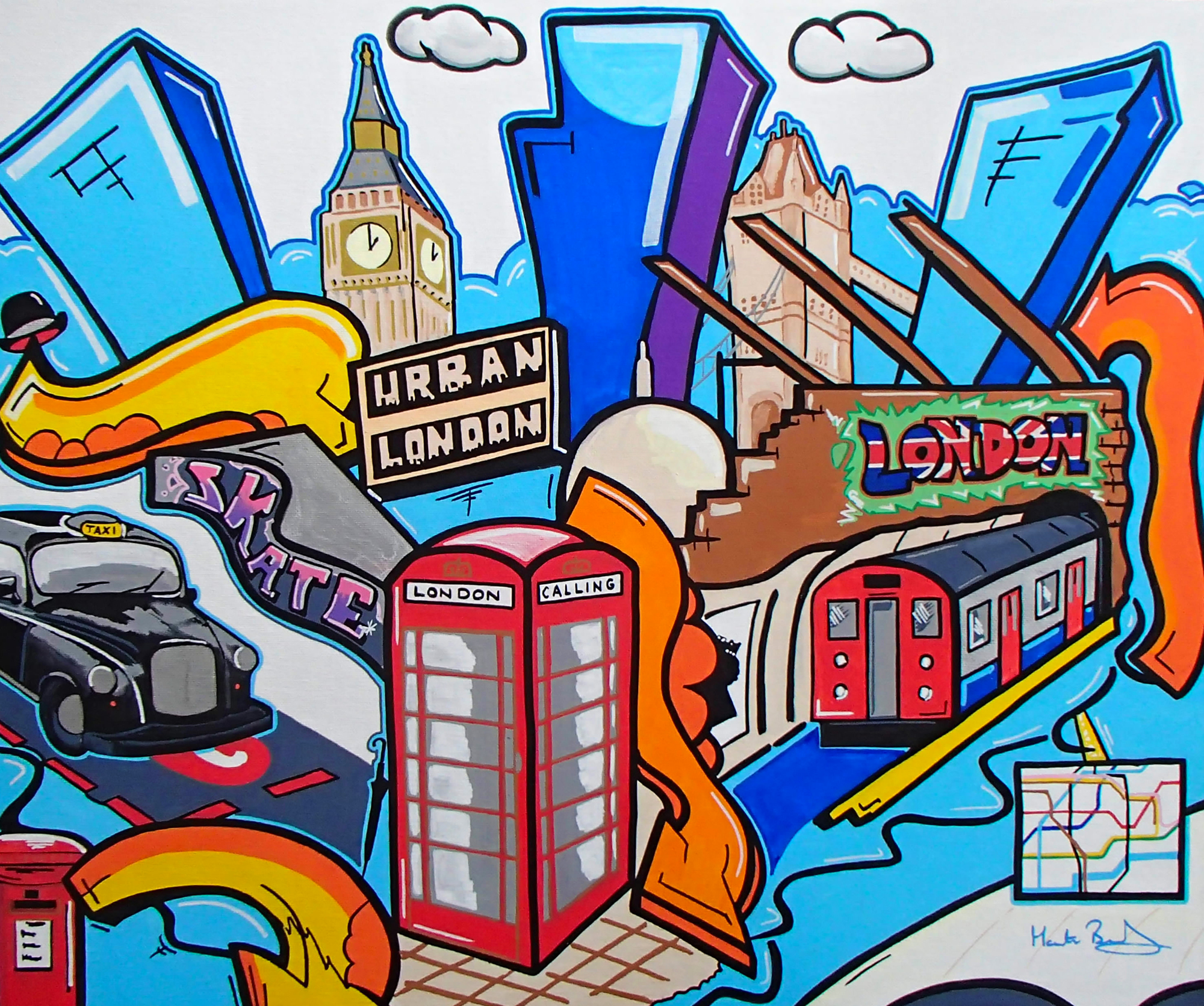 Available - Framed, London Calling, £295