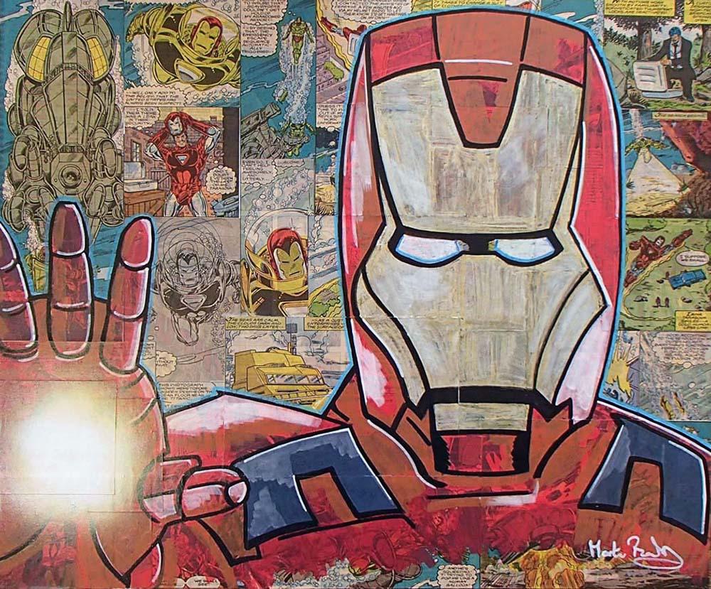 SOLD - Iron Man Vintage Comic & POSCA