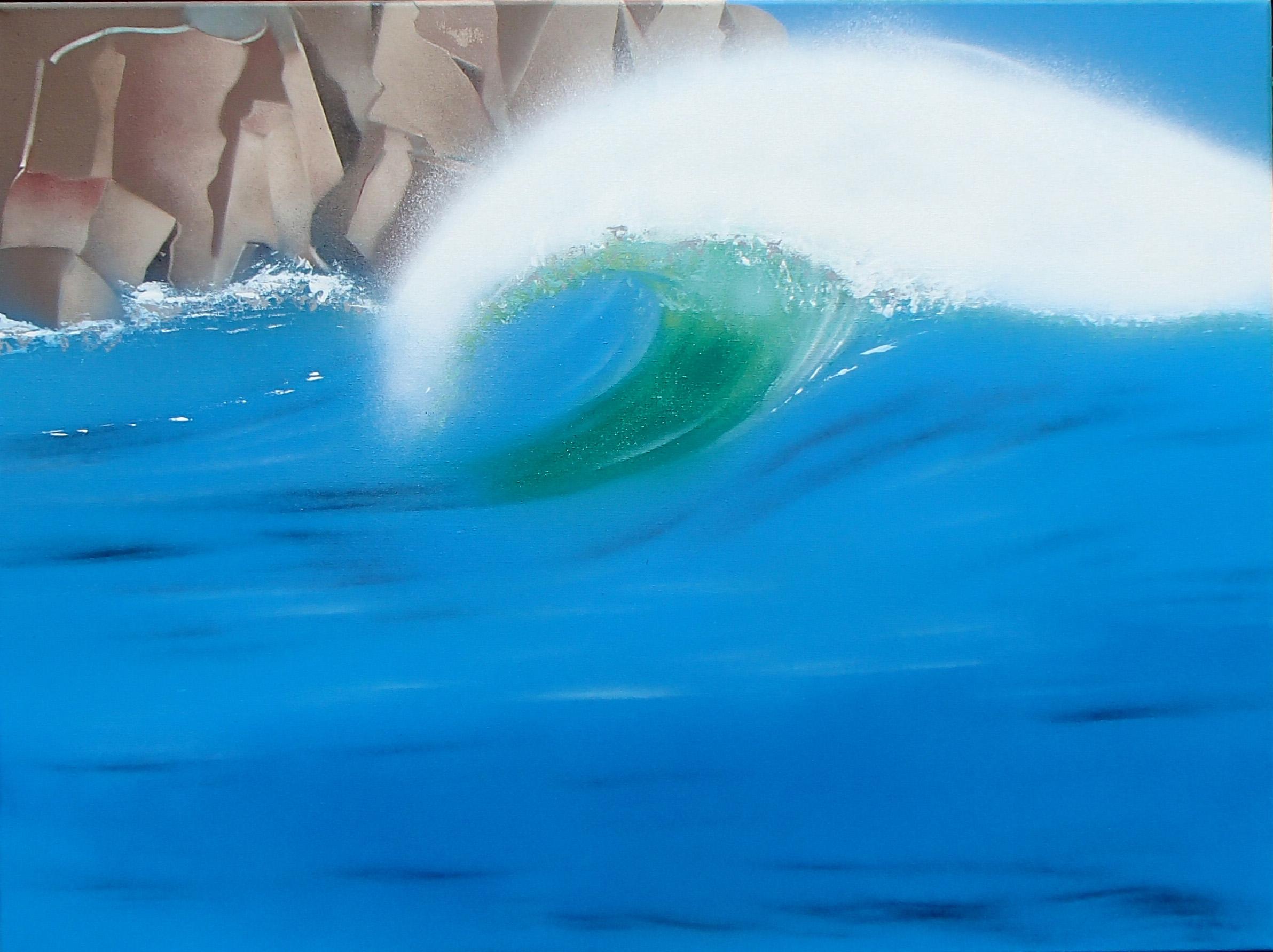 Available - Sea Spray £395. 80 x 60 x 4 cm, Unframed