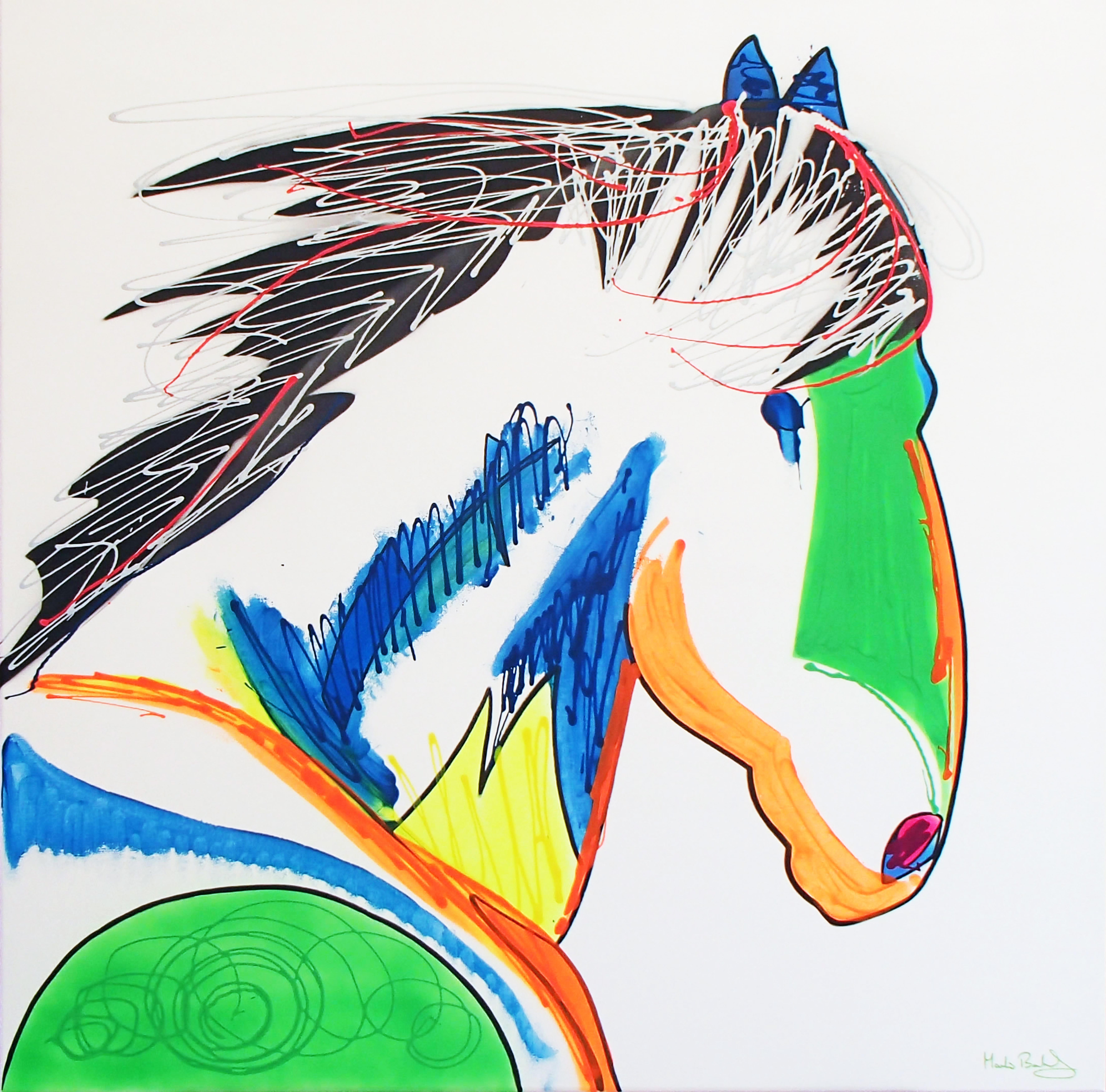 Available - Tears of a Horse, 80cm x 80cm, £395